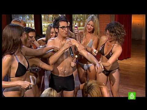 berto estimula a 10 chicas a la vez gracias al reto de control buenafuente BFN 25 06 2009
