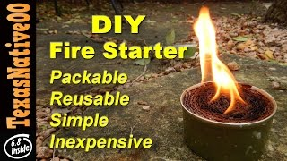 Fire Starter Made with Household Waste - Keeps Forever