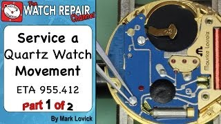 How to service a quartz movement. ETA 955 412. Watch repair tutorials
