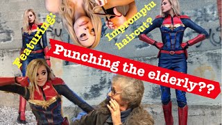 DIY Captain Marvel Costume (Ft. Finding an old lady to fight?)