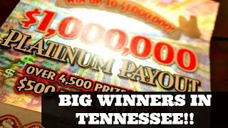 Big Winners Today $1,000,000 Platinum Payout Tennessee Lottery