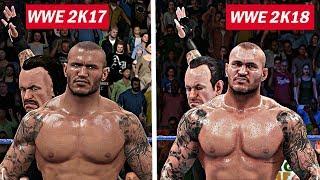 WWE 2K18  - Top 10 Cutscenes Graphics Comparison! (PS4 & Xbox One)