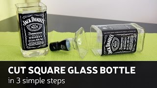 DIY: Cut Square Glass Bottle In 3 Simple Steps