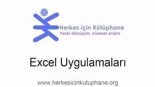 Excel Uygulamaları Eğitimi 1