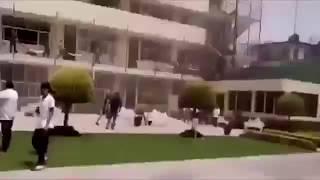 MOMENTO EXACTO DE LA CAÍDA DEL COLEGIO ENRIQUE REBSAMEN