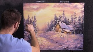 Finishing the Snowy Christmas painting | Paint with Kevin®