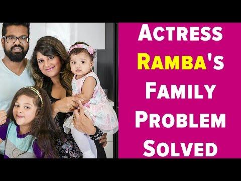 Actress Ramba's Family Problem Solved | Thirupathi Visit