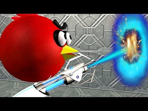 ANGRY BIRDS in a PORTAL 2 game ♫ 3D animated game mashup ☺ FunVideoTV Style ;