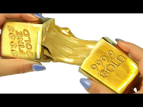DIY LIQUID GOLD How To Make Clay Slime Gold