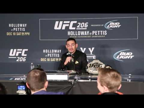 Max Holloway Post Fight Media Scrum at UFC 206