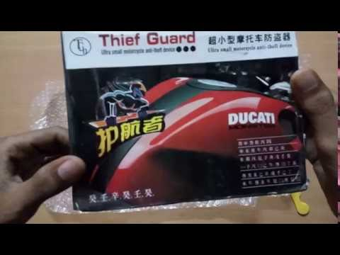 unboxing HRU Anti theft security alarm with remote system (For all bikes )
