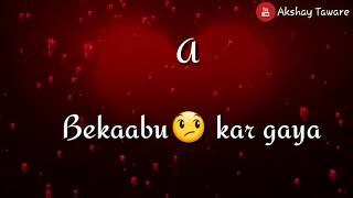 Koi Dil Bekabu Kar Gaya || Shahid Kapoor || New WhatsApp Status