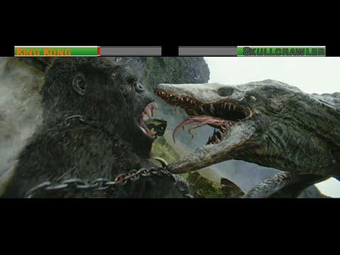 King Kong vs Skullcrawler with healthbars