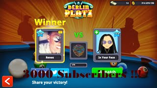 8 Ball Pool - Berlin Platz (Winning 150 million) HD [2016]