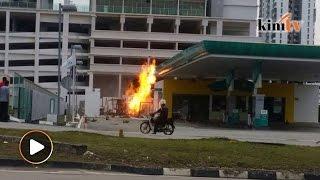 Video: Tangki NGV meletup seorang pekerja maut