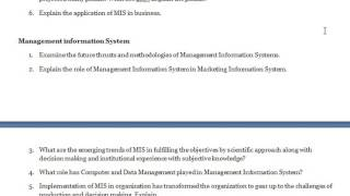 Management Information System - Explain the three basic elements  of  'MIS'