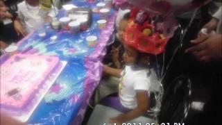 Amaya sings Barney/birthday party