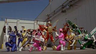 Power Ranger Fuerza del Tiempo y A la velocidad de la luz team-up | Transformación y Batalla