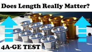 Ultimate 4AGE Trumpet Test! 100mm Vs 75mm Vs 50mm Test And Review