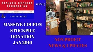 Extreme Coupon Mass Donation for Jan 2019~Nonprofit News & Updates~Couponing to Mass Donations❤️