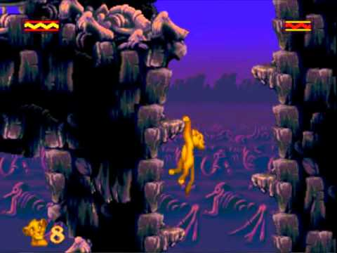 [Sega Genesis] - The Lion King - Level 3 - The Elephant Graveyard