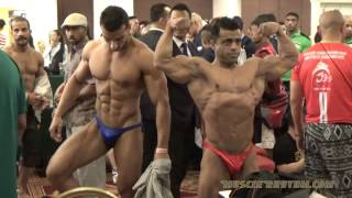 50th IFBB Asian Bodybuilding Championship 2016 Weigh-in & Backstage Posing Video (AFBF)