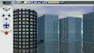 how to build a simple building archeticture in Bryce 5.5 part 2.wmv