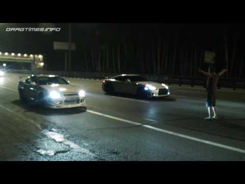 Nissan Skyline GT R vs Nissan GT R and Corvette ZR1 vs Nissan GT R