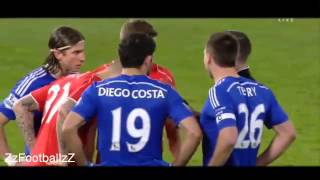 Diego Costa Fight vs Liverpool | League Cup 29.01.2015