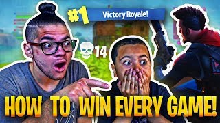 TEACHING 9 YEAR OLD BROTHER HOW TO WIN 99.99% OF SOLOS *NEW* SKIN IS INSANE! FORTNITE BATTLE ROYALE!