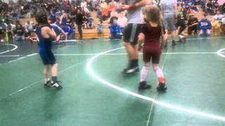 My little girl wrestling