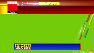 Download Free Breaking News Green Screen Theme | 3D News Headlines After Effects