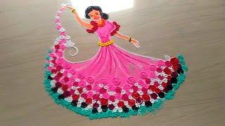 AWESOME and BEAUTIFUL unique women's day rangoli designs/8 march rangoli design by jyoti Rathod