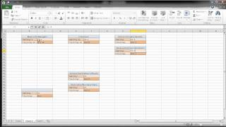 Creating a Pert CPM Chart Using Excel