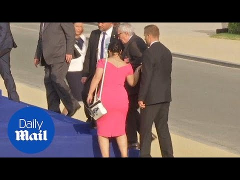 Xxx Mp4 Jean Claude Juncker Stumbles And Is Helped By Leaders At NATO Gala Daily Mail 3gp Sex