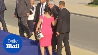 Jean-Claude Juncker stumbles and is helped by leaders at NATO gala - Daily Mail
