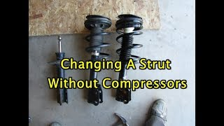 Learn the best way to replace a strut with and without spring compressors - Discover a better ride