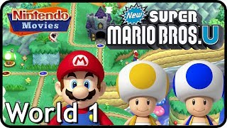 New Super Mario Bros. U: World 1 Acorn Plains (All Star Coins 100% Multiplayer Walkthrough)