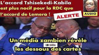 ALERTE! Un média zambien révèle L'accord Tshisekedi-Kabila...