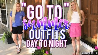 "PREPPY ""GO TO"" SUMMER OUTFITS!! 3 OUTFIT IDEAS/ DAY TO NIGHT 