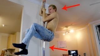 HE PUT A STRIPPER POLE IN OUR APARTMENT!!
