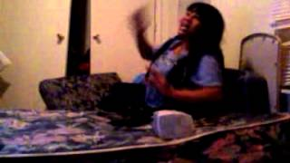 Mother goes wild rapping and son joins