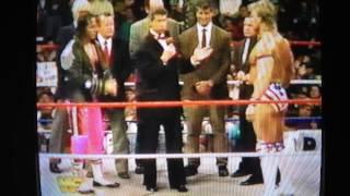 WWF Bret Hart & Lex Luger coin toss