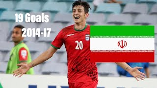 Sardar AZMOUN | All Goals For Iran Since 2014 (15 Goals)