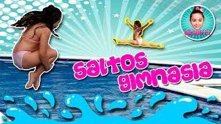 (*)  GIMNASIA RITMICA y SALTOS en la PISCINA 💦 Me voy con MI MADRE a hacer SALTOS AL AGUA 😱