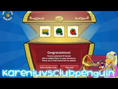 Unlocking Club Penguin Innocent Smoothies Exclusive Fruit items