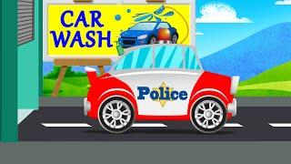 Police car | car wash | game for kids