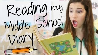 READING MY MIDDLE SCHOOL DIARY!!!