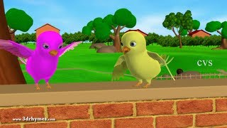Two little dicky birds - 3D Animation English Nursery rhymes for children