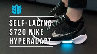 We try on $720 self-lacing Nike HyperAdapt